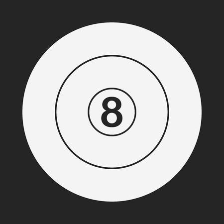 billiards rooms: Billiards line icon Illustration