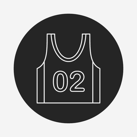 leisure wear: Sports vest line icon Illustration