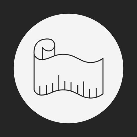 tape line: measuring tape line icon