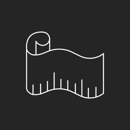 tape line: measuring tape line icon