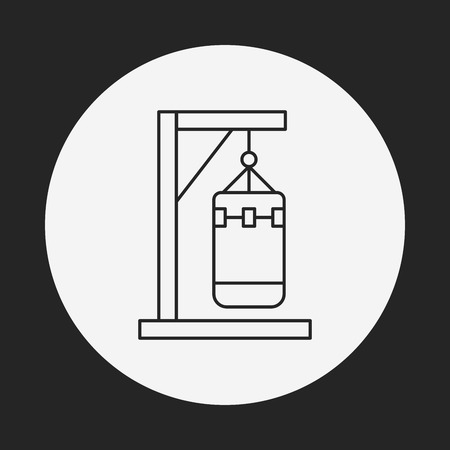 punch: punch bag line icon