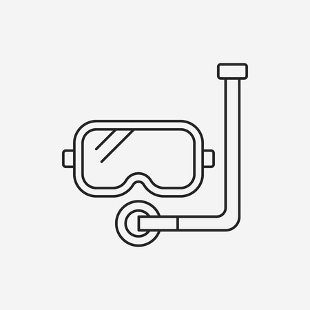 goggles: Goggles line icon Illustration