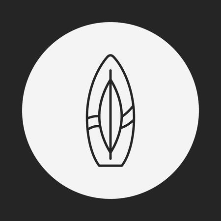 Surfboard line icon Vector