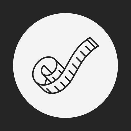 measuring tape line icon Vector Illustration
