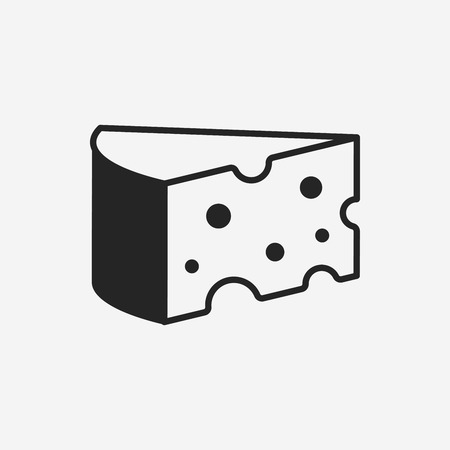 cheese: cheese icon Illustration