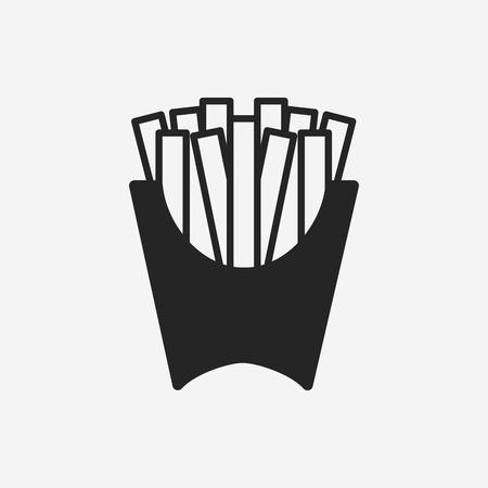 frieten pictogram Stock Illustratie