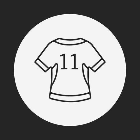ropa deportiva: Icono de l�nea de ropa deportiva
