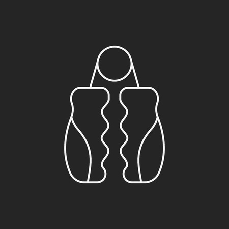 grip: grip exerciser line icon