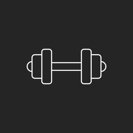 hand lifting weight: Dumbbell line icon