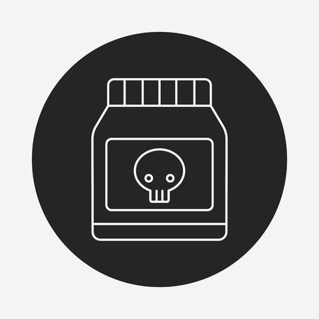 poison: Poison line icon Illustration
