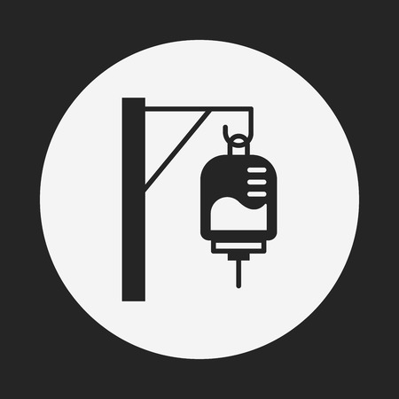 intravenous: medical drip icon