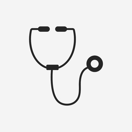 diagnose: Stethoscope icon Illustration