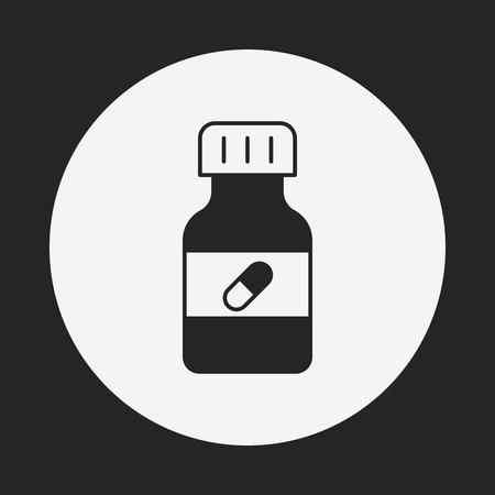 medicine bottle icon Illustration
