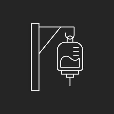 iv drip: medical drip line icon
