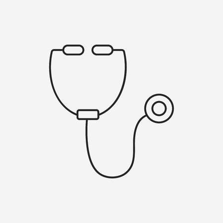 doctors tools: Stethoscope line icon