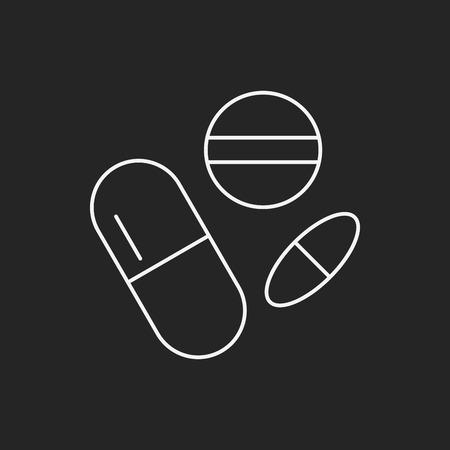dose: medicine line icon