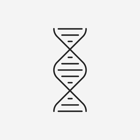 DNA line icon 向量圖像