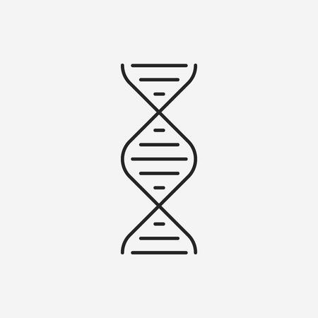 DNA line icon Illustration