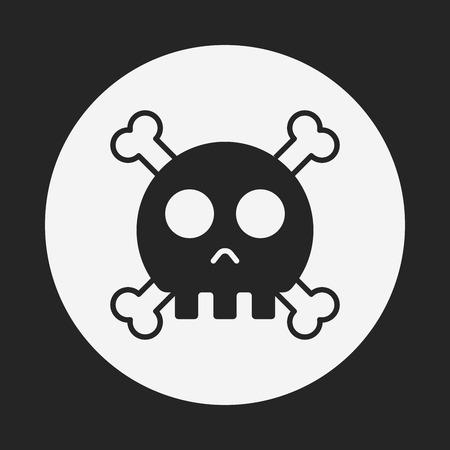 skull icon: halloween skull icon