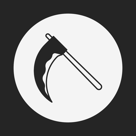 scythe: halloween scythe icon Illustration