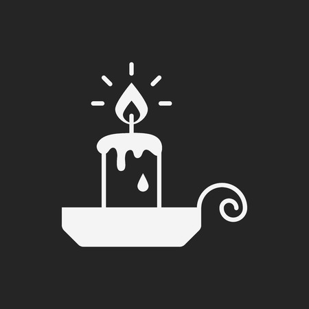 long night: halloween candle icon