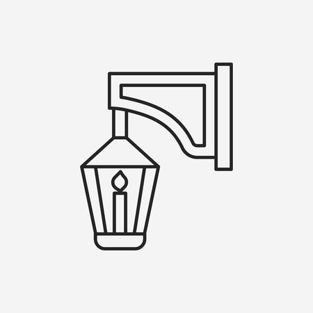 street light: street light line icon