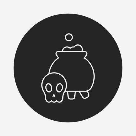 poison: Halloween poison line icon