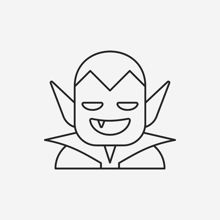 halloween monster line icon Illustration