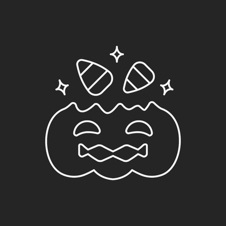 halloween candy line icon Vector