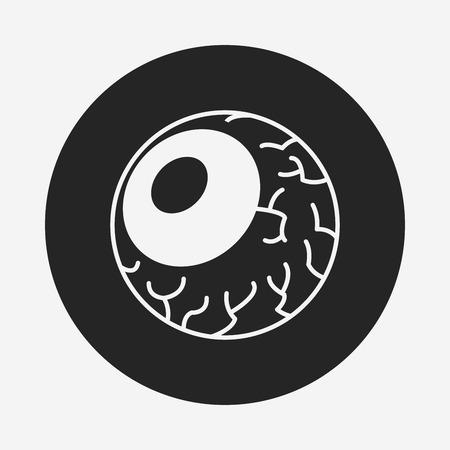 ojos negros: Halloween globos oculares icono