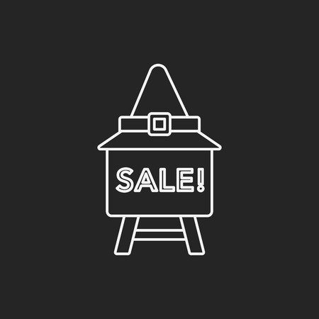 sale icon: Halloween sale icon