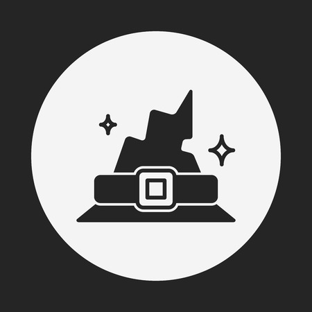 halloween witch hat icon Vector