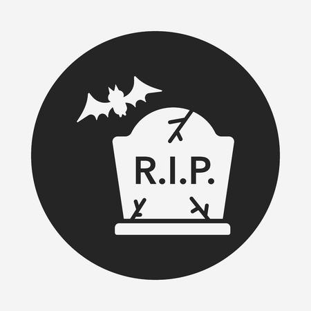 grave stone: halloween grave icon