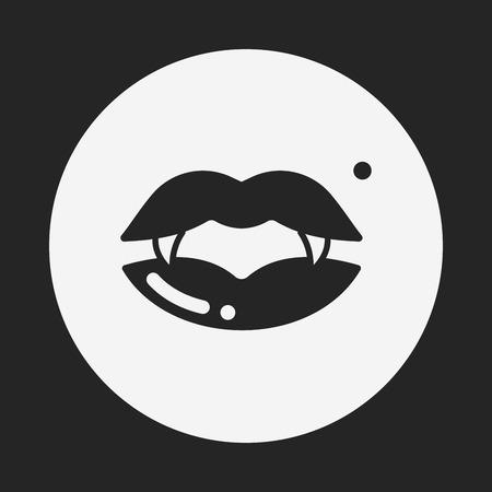 Halloween mouth icon