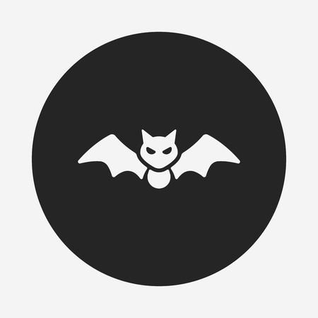 halloween bat: halloween bat icon Illustration