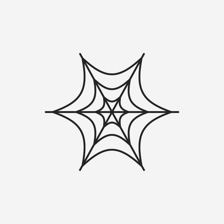 web2: halloween spider line icon