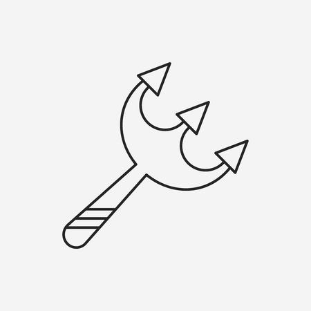 scythe: icono de Halloween línea guadaña