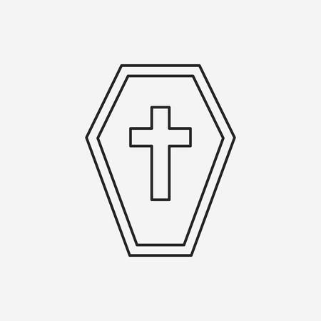 grave stone: halloween grave line icon