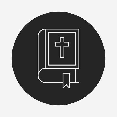 bible line icon