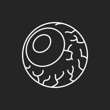 eyeballs: halloween eyeballs line icon Illustration