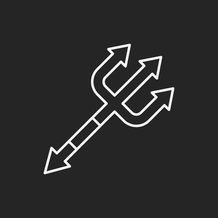 scythe: halloween scythe line icon Illustration