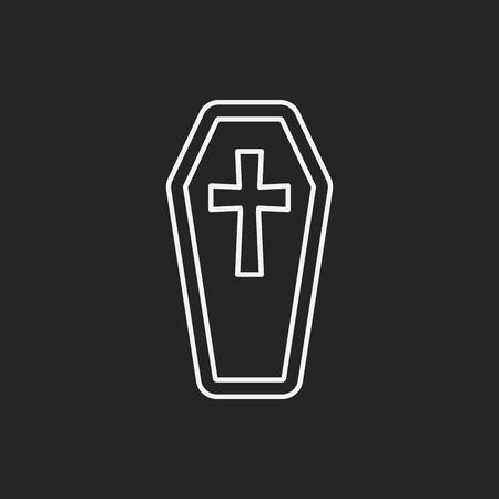 grave: halloween grave line icon