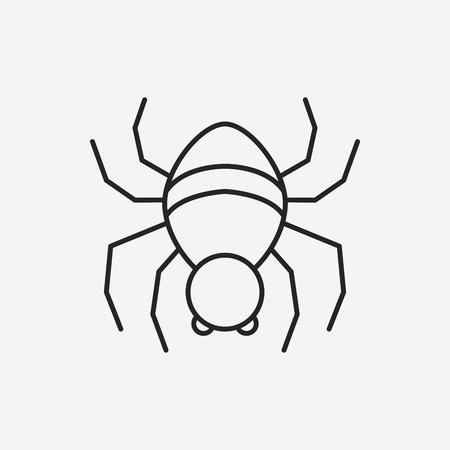 spidery: halloween spider line icon