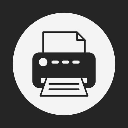 inkjet: printer icon Illustration