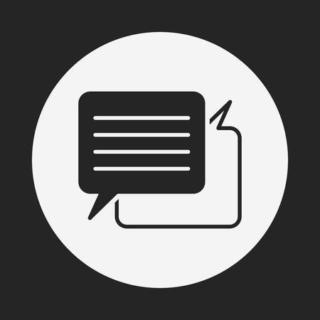conversation icon: office conversation icon Illustration