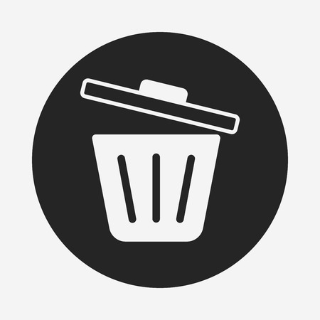 garbage can: garbage can icon