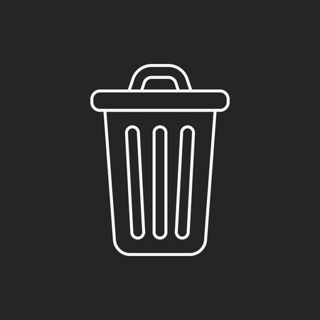 garbage can: garbage can line icon