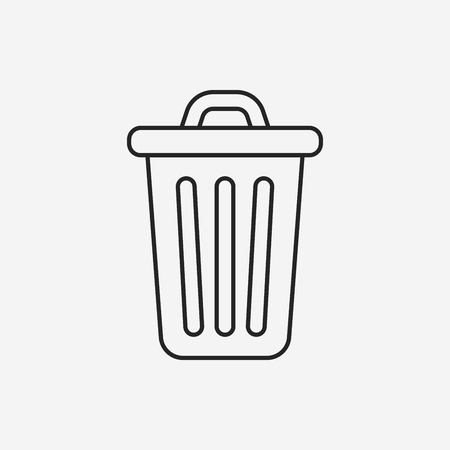 vuilnisbak icoon lijn Stock Illustratie