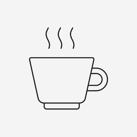 hot line: hot coffee line icon