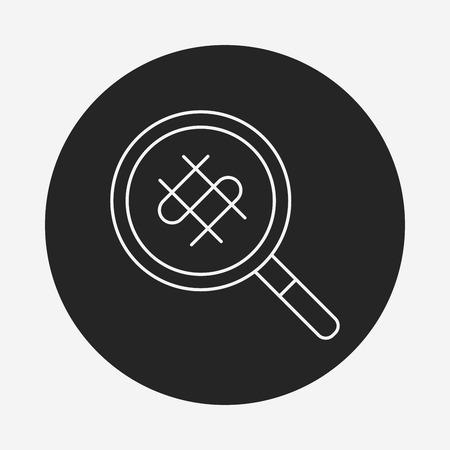 cash flows: find money line icon
